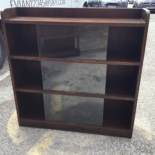 lazed Bookcase / Cabinet  Retro - Vintage