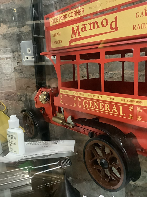 Mamod steam red London bus with box