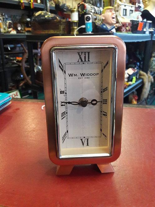 Rose gold Widdop mantle clock