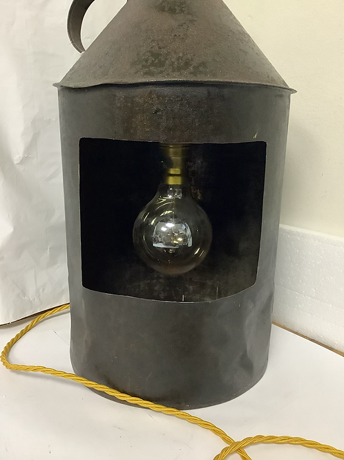 Bespoke Upcycle oil can lamp