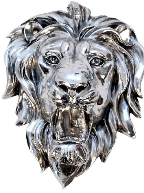 Plated Lion Head Plaque