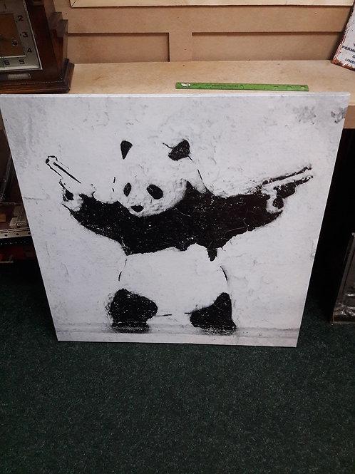 Banksy Panda Print Canvas