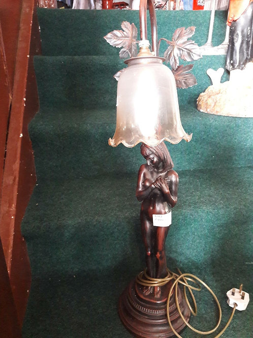 Bronze like Figural lamp