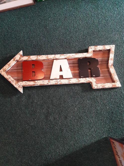 Shabby Chic  bar sign.