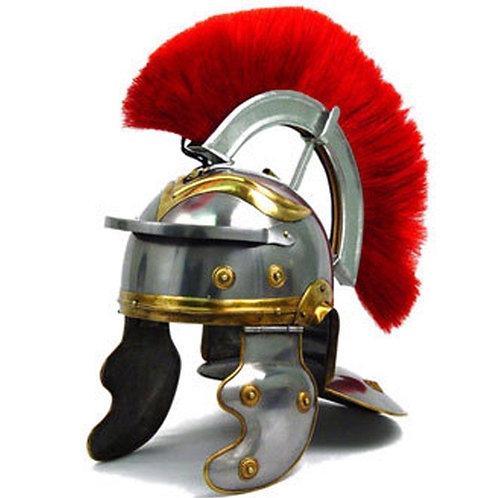 Greek Roman Gallic Helmet + Red Plume