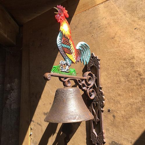 Cast iron cockerel bell