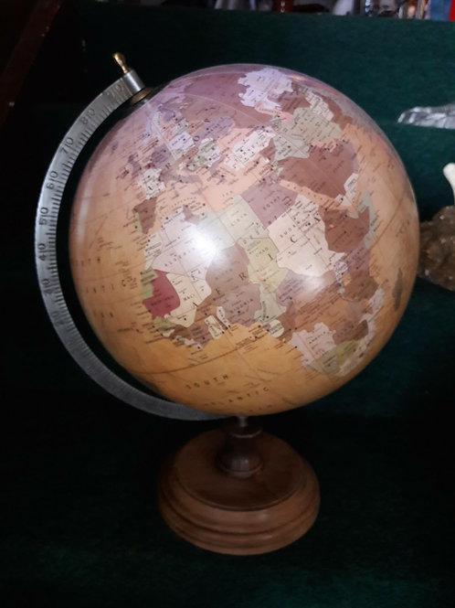 Large Matt World Globe on stand