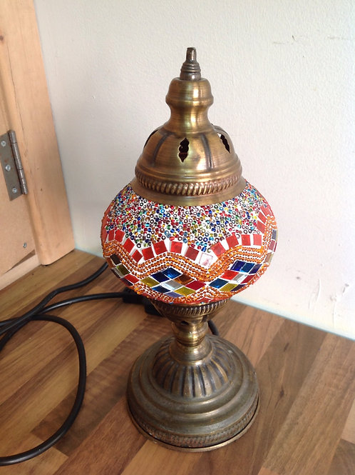 Single Orange Moroccan Mosaic Lamp
