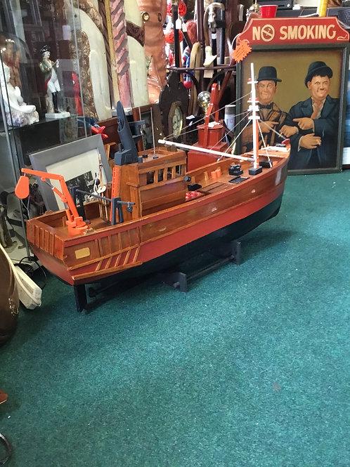 Hand made fishing boat