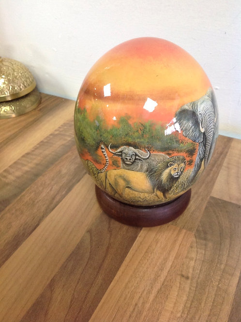 African Hand painted Ostrich Egg
