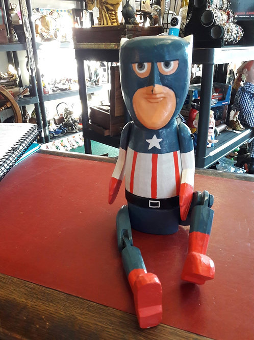 Large Wooden Captain America