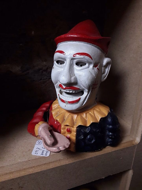 Cast Iron Joker/Clown Money Bank