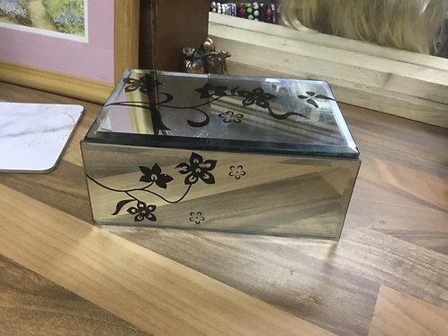 Rectangular  trinket box mirrored