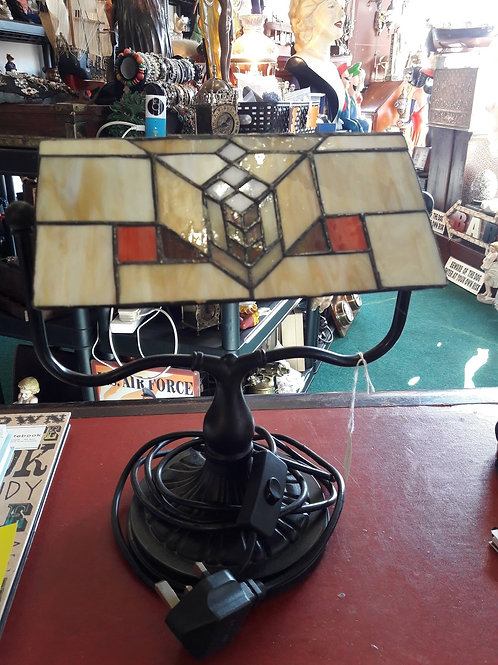 Tiffany style Bankers lamp.
