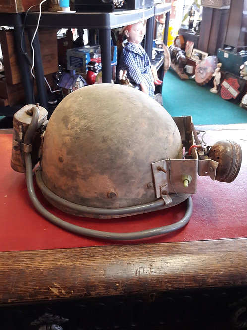 Vintage Miner's Hat with Lamp