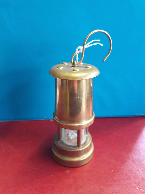 Small brass miners safety lamp