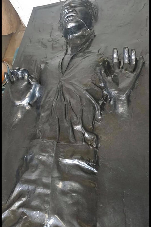 Full size Han Solo in carbonite prop statue