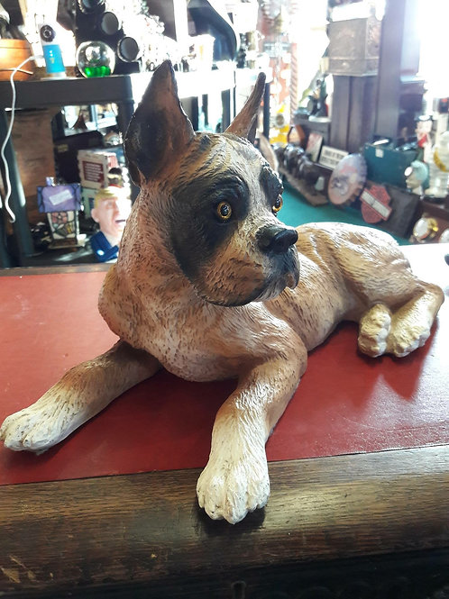 Resin Boxer Puppy Ornament