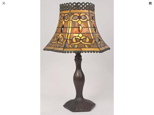Brown open top Tiffany light