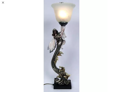 """""""Up To The Sky Fairy"""" with Glass Uplight Lamp"""