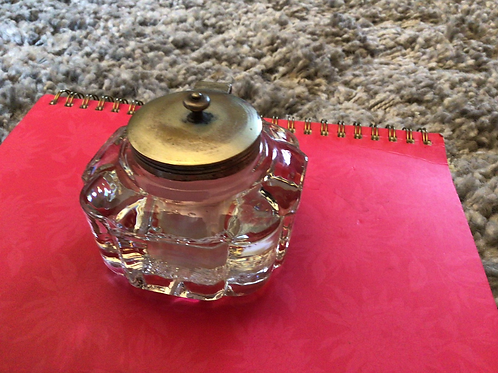 Large glass inkwell
