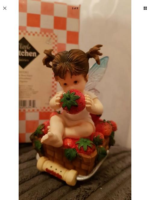 My Little Kitchen Fairies Little Berry 2001 Enesco Figure Ornament