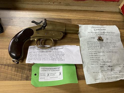 Ww1 British brass 1 mk111 trench flare / signal pistol