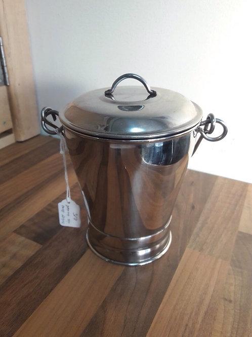 Silver Toned Ice Bucket