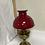 Thumbnail: Cherry red Aladdin parraphin lamp