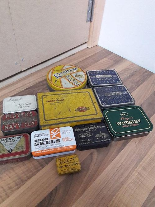 Box of Vintage Tins