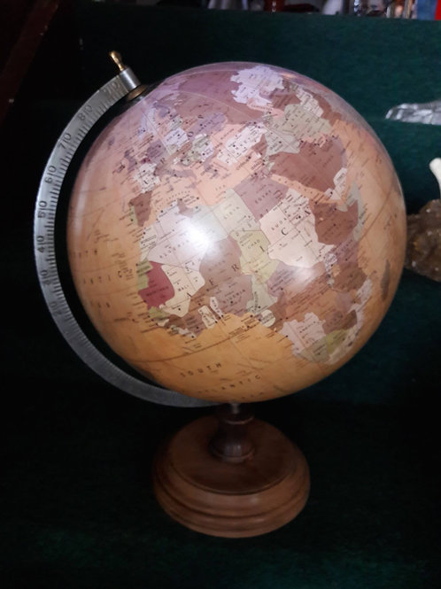 Large Matt World Globe on stand
