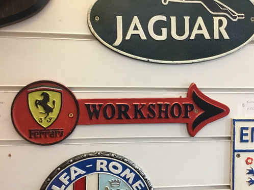 Ferrari cast iron sign