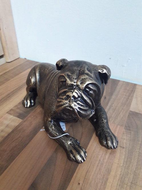 Cast Iron Bronzed Bulldog