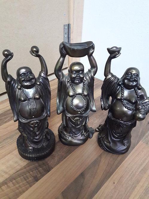 Set of 3 Bronze Coloured Buddha's