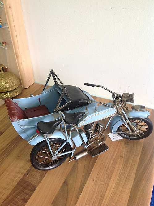 Vintage Motorcycle and Sidecar
