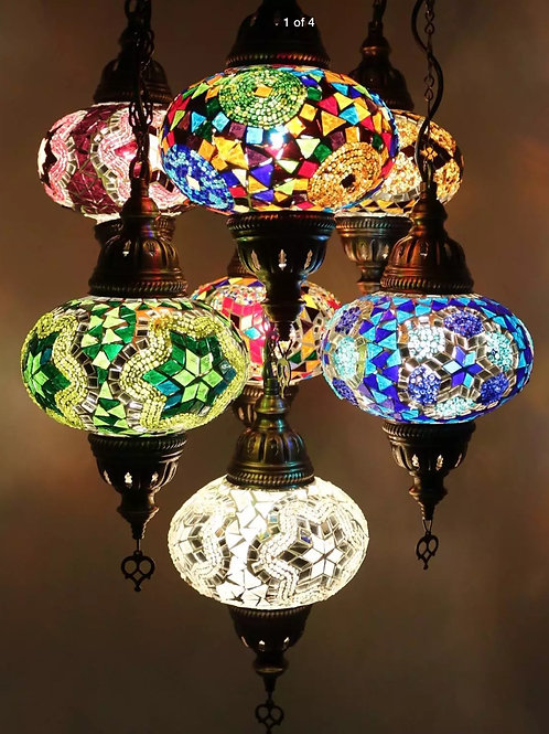 Moroccan 8 tier Celling light
