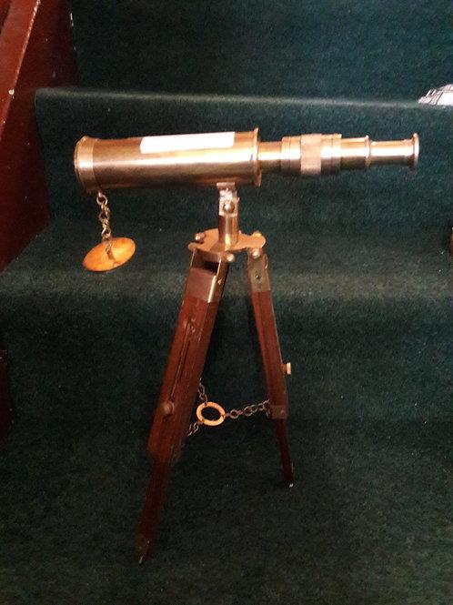 Brass telescope on Wooden Tripod