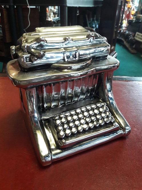 Novelty typewriter money bank.