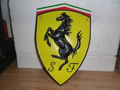 Ferrari Logo Cast Iron Badge