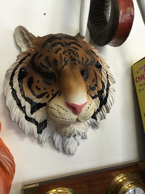 Tiger resin wall sculpture