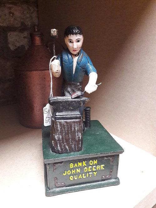 Cast Iron John Deere Money Bank