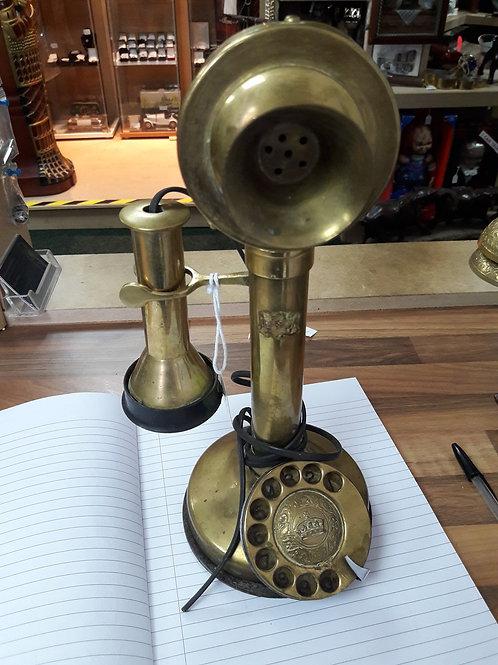 Brass candlestick phone