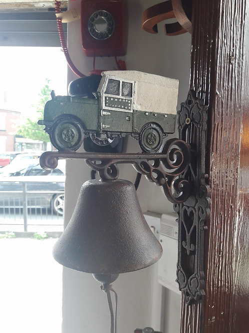 Cast iron land rover bell