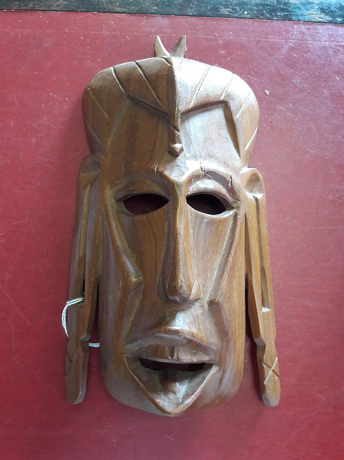 Carved Wooden Tribal Face