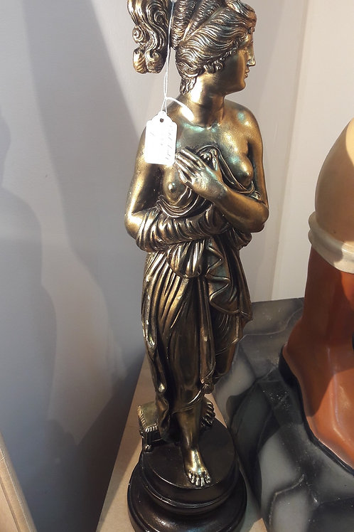 Gold lady statue