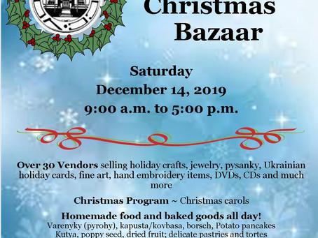 Christmas Bazaar is almost here!