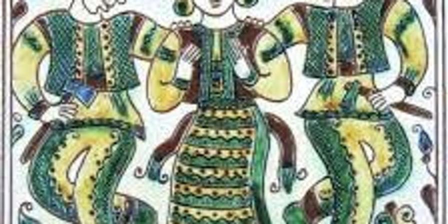 Ukrainian Hutsul Tile Making