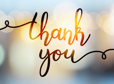 Raffle Winners and Thank you