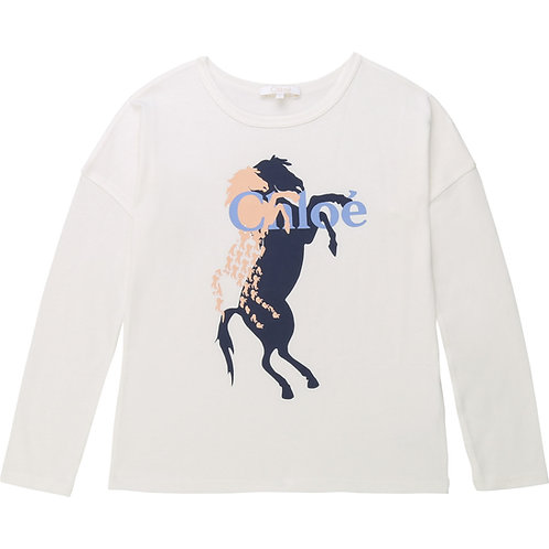 C15A59/83E CHLOÉ KIDS GIRLS LONG SLEEVE T-SHIRT