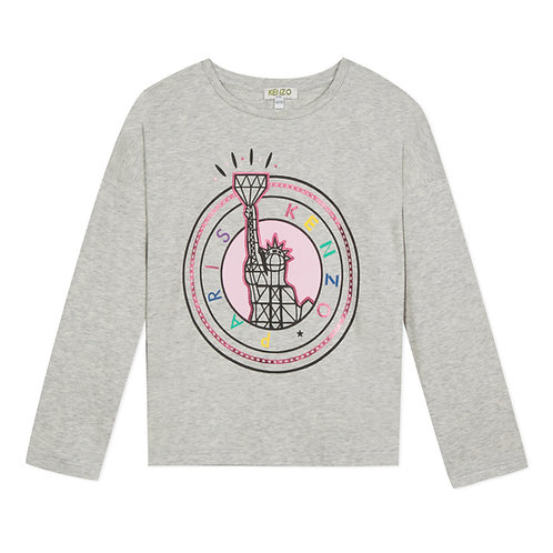 KP10108/25 KENZO KIDS GIRLS LONG SLEEVE TEE-SHIRT